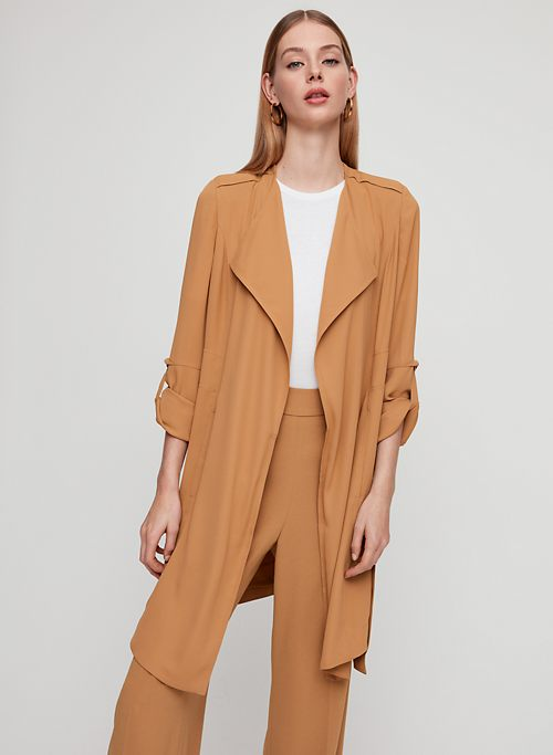 fd5dbe54c8 QUINCEY JACKET - Flowy Modern Trench Coat