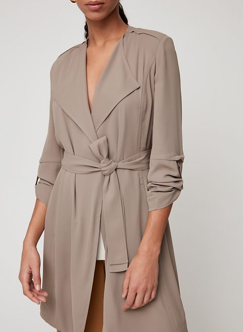 2fa8debf280c4 QUINCEY JACKET - Flowy modern trench coat