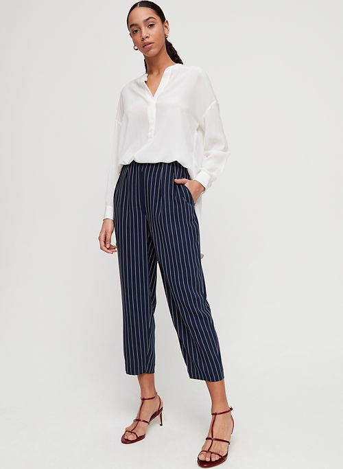 36f20a9f19c0c MODESTO PANT - Pinstripe, high-waisted trouser