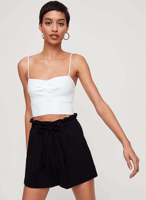 7996823ebaac4 SALIM SHORT - High-waisted paperbag shorts