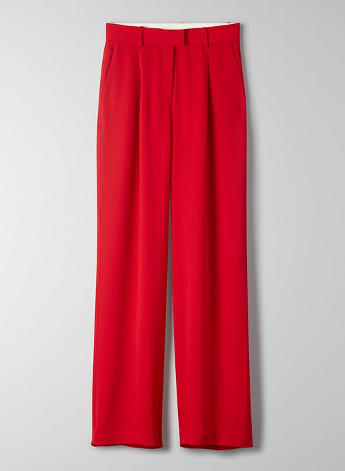 SADIKI PANT - High-waisted, wide-leg dress pant