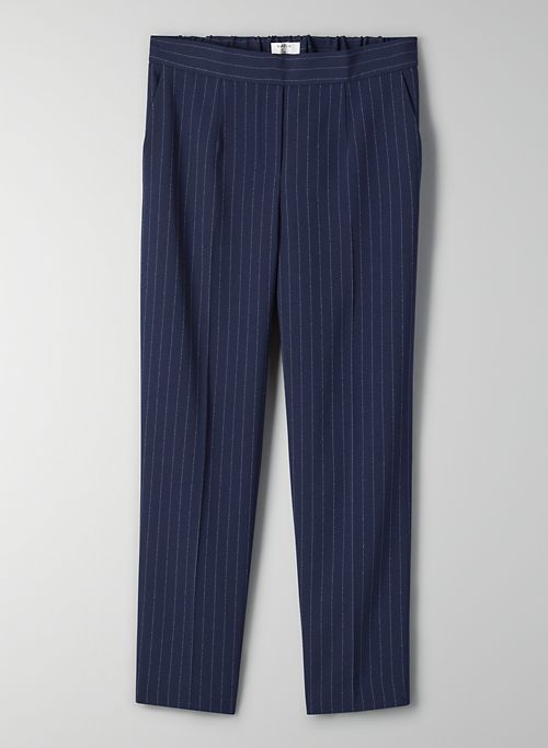 CONAN PANT - Cropped, pinstripe dress pant