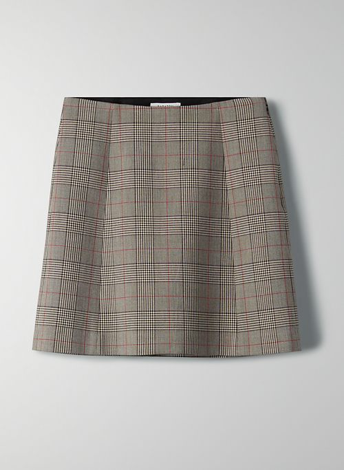 MODERN CHECK MINI SKIRT | Aritzia