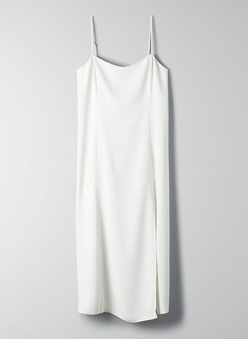 SLIT SLIP DRESS - Midi slip dress