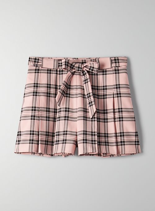 WESTLEY SHORT - Pleated. checkered shorts