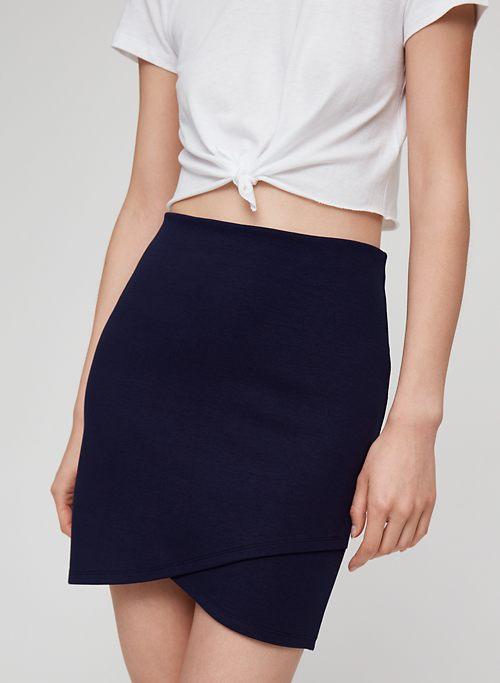 3aba1ca3ad14 PRIMROSE SKIRT - Faux-wrap mini skirt