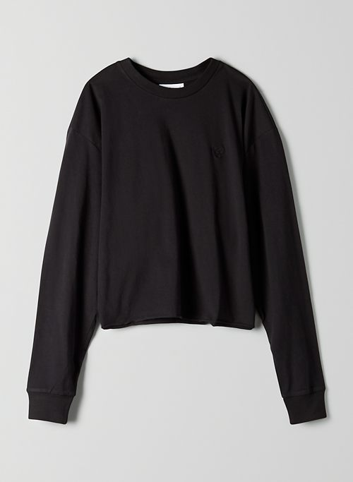 AGDEN T-SHIRT - Cropped, long-sleeve t-shirt