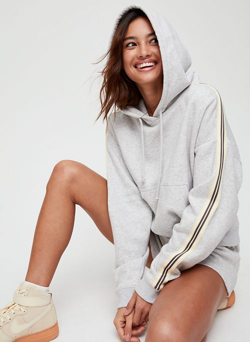 0cae500b7 THE ICONIC HOODIE - Cropped, hoodie with side stripe