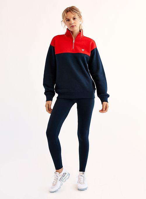 8af6d4d3a968c MONTEVIEW SWEATER - Two-tone quarter-zip sweatshirt