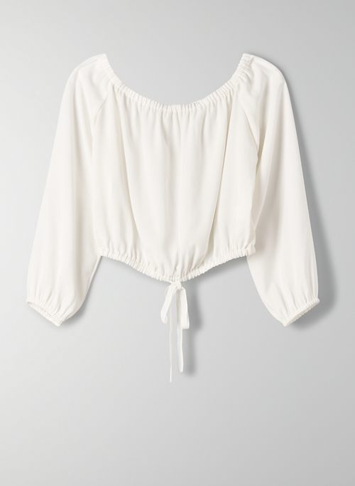 ELEANORA BLOUSE - Cropped, off-the-shoulder top