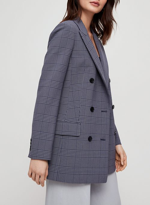 ffb94833 MARGAUX BLAZER - Plaid, double-breasted blazer