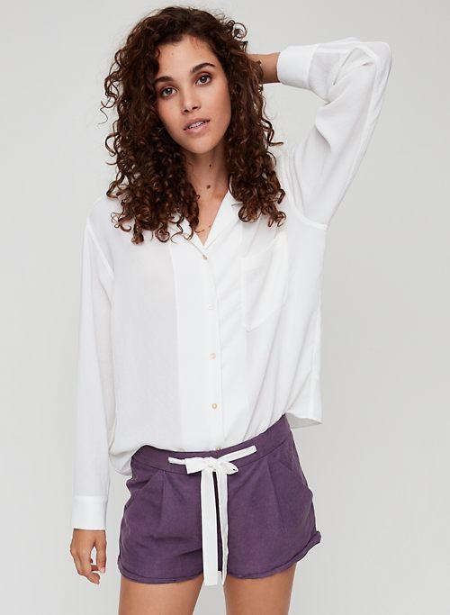 acf334210abc9 ALLEGRA SHORT - Linen-blend, tie-waist shorts
