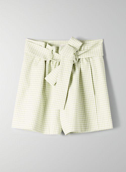 GÉLAS SHORT - High-waisted gingham shorts