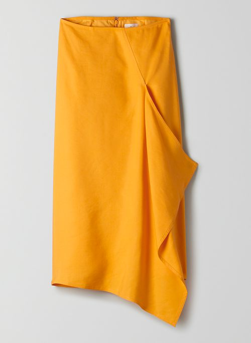 AUTIER SKIRT - Asymmetrical midi skirt