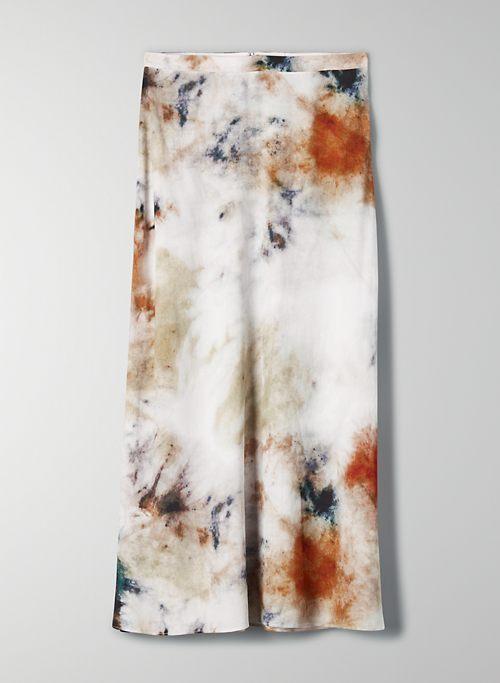 MIDI SKIRT - Tie-dye slip skirt