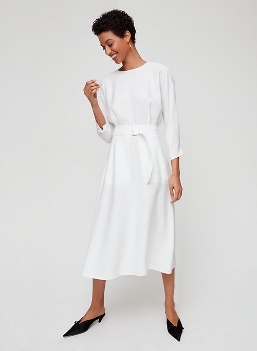 80cffa8406f TAVIN DRESS - Belted, linen-blend midi dress