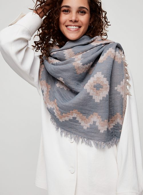 07db0790af23 DIAMOND MOSAIC BLANKET SCARF - Patterned, wool blanket scarf. 13 Colours