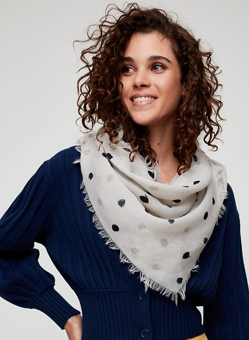 a6eff661abe9a PAINTED DOTS SCARF - Lightweight triangle scarf