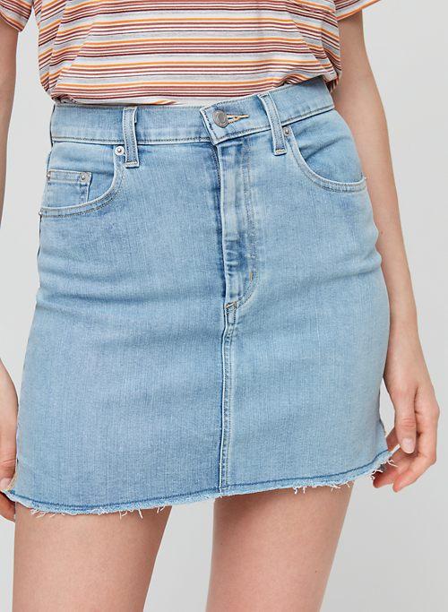 a6eef9b1fa CUT OFF DENIM SKIRT - Denim mini skirt