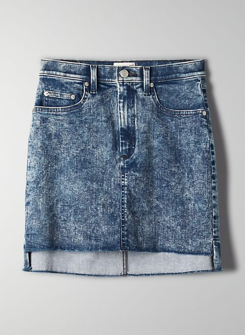 CUT OFF DENIM SKIRT | Aritzia