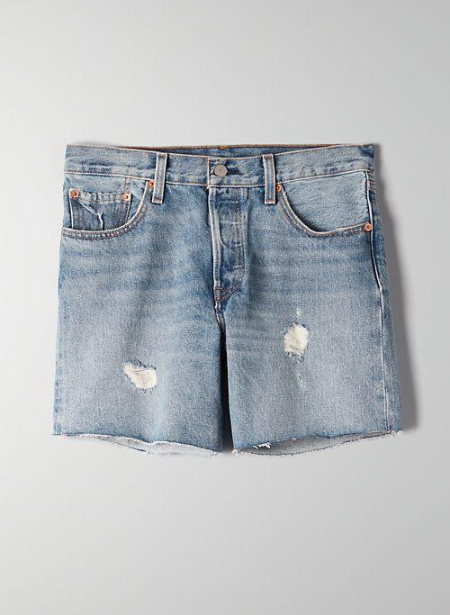 501 SHORT LONG - Mid-rise denim shorts