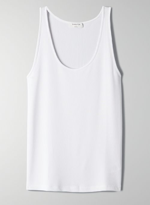CANDARA TANK - Scoop-neck, ribbed tank