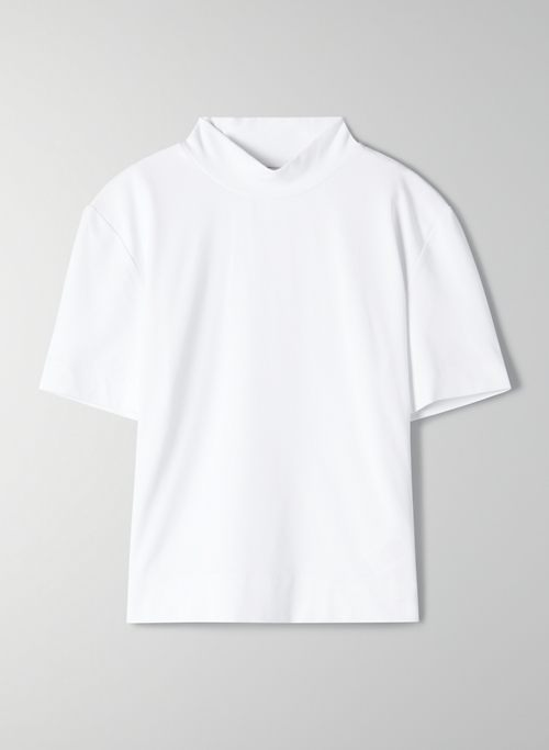 GONZALO CONTOUR T-SHIRT - Cropped, short-sleeve turtleneck
