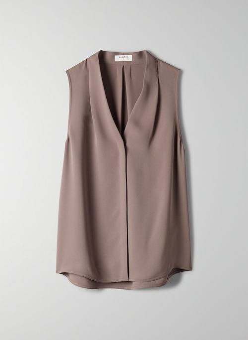 SLEEVELESS POWER BLOUSE | Aritzia