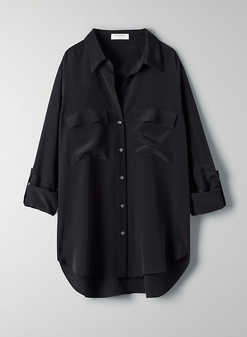 UTILITY SILK BUTTON-UP - Silk button-up shirt