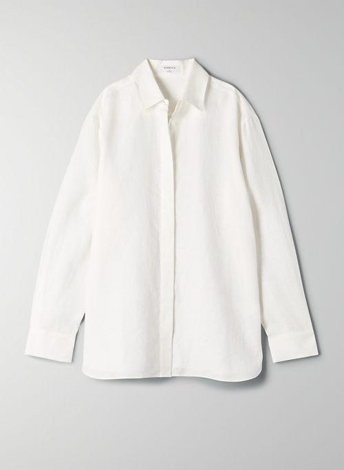TAHOMA BUTTON-UP - Linen button-front shirt