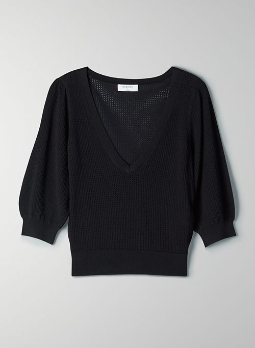 COOPER SWEATER - Cropped V-neck sweater