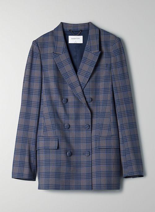SAMUEL BLAZER - Plaid double-breasted blazer