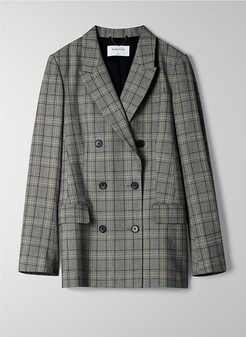 SAMUEL BLAZER - Plaid double-breasted blazer