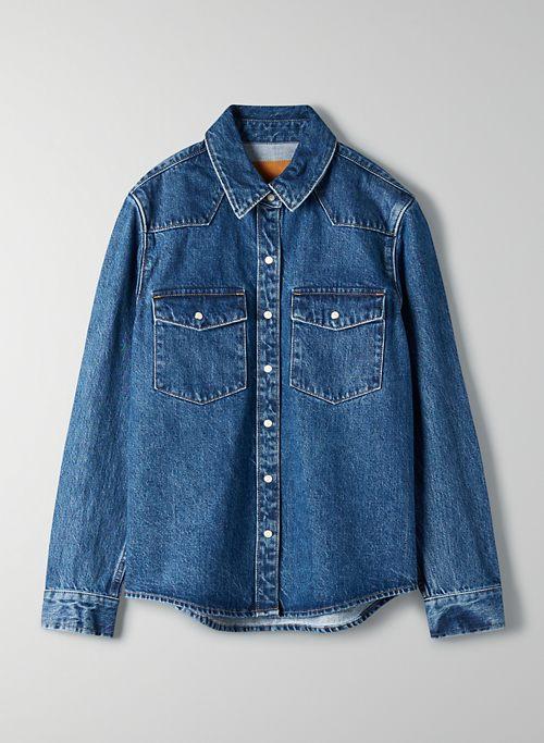 THE PATTI SHIRT JACKET - Western denim button-up shirt