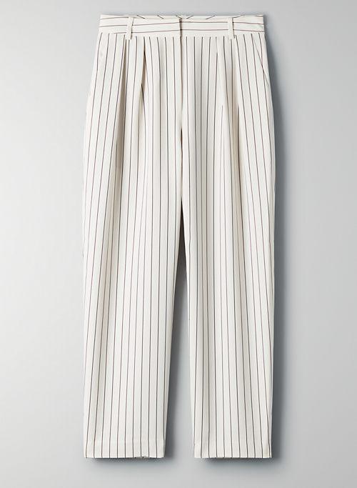 MODESTO PANT - Pinstripe, high-waisted trouser