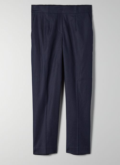 CONAN PANT - Cropped, linen-blend dress pant