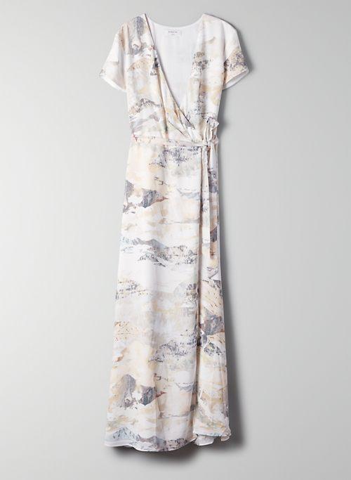 SLIT WRAP DRESS