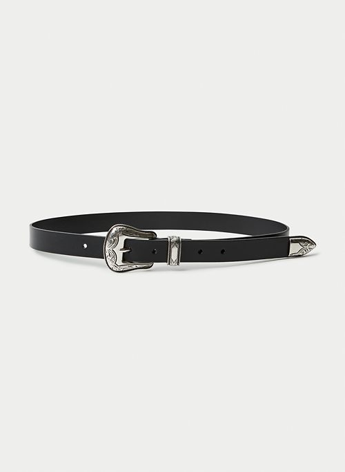 SKINNY WESTERN BELT - Skinny leather belt