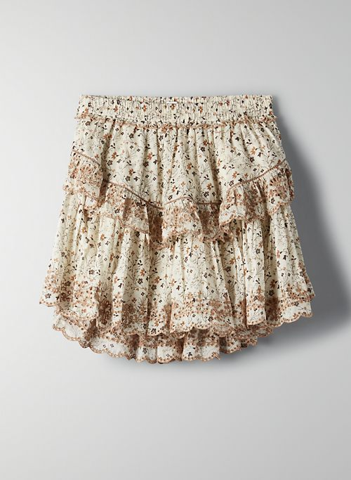 LADY SKIRT - Ruffled, embroidered skirt