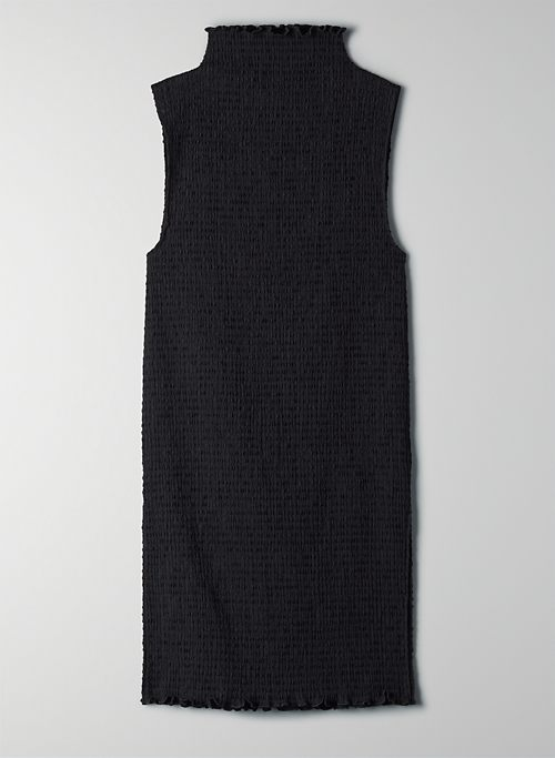 VERONA BLOUSE - Funnel-neck, seersucker tank