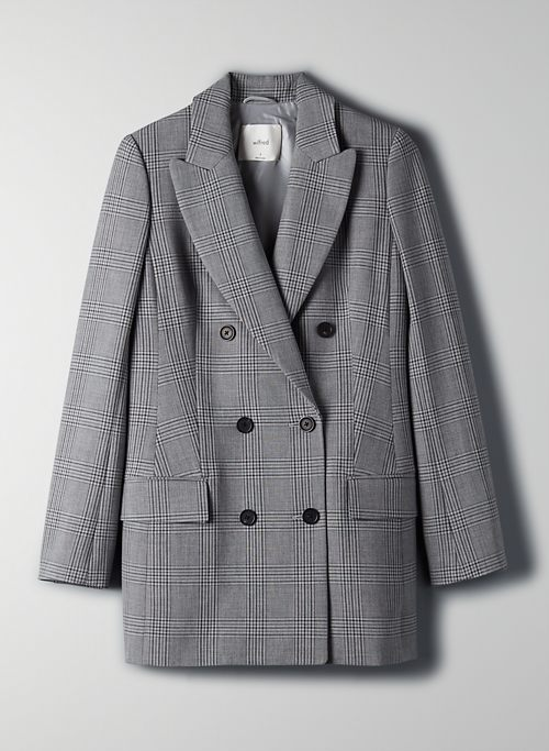 NEW MARGAUX BLAZER - Menswear-inspired check blazer