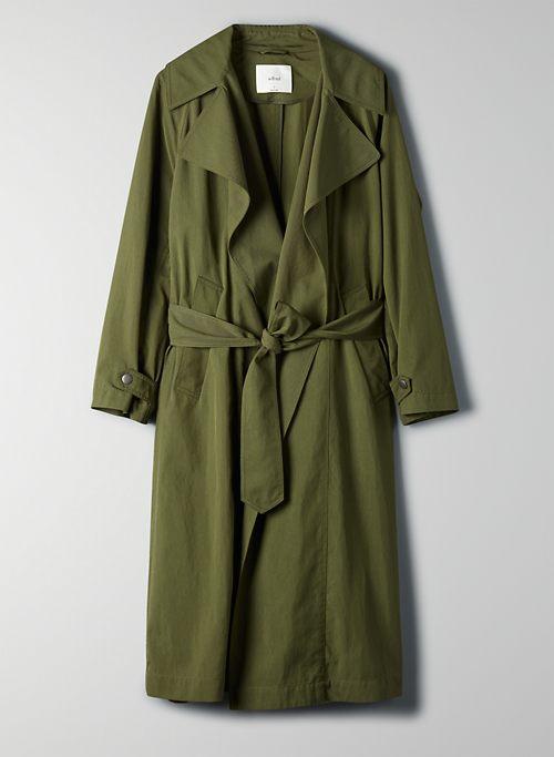 REQUIEM TRENCH COAT - Belted long trench coat