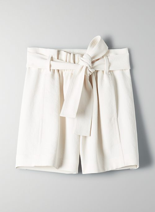 NEW PAPERBAG SHORT - High-waisted, tie-waist shorts