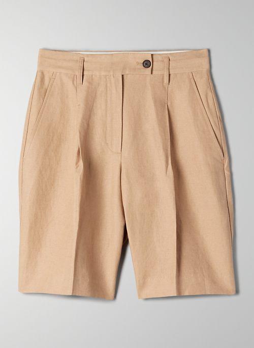 VITO LINEN SHORT - Linen bermuda shorts
