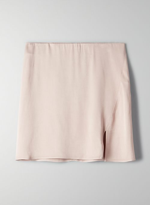 MUSE SKIRT - Satin mini skirt