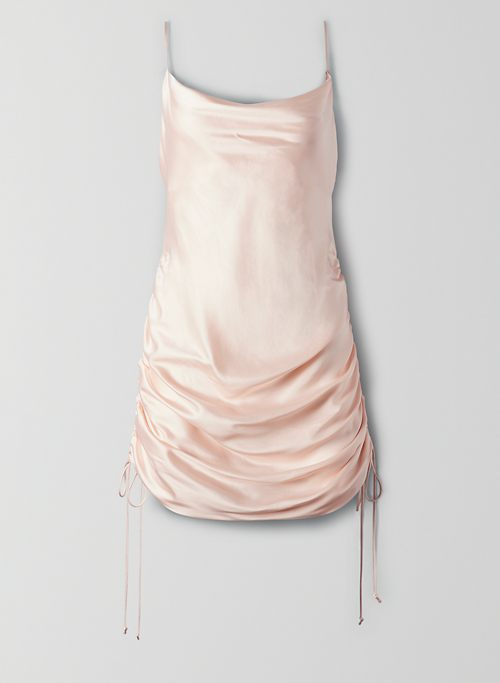 ONLY RUCHED SLIP DRESS | Aritzia