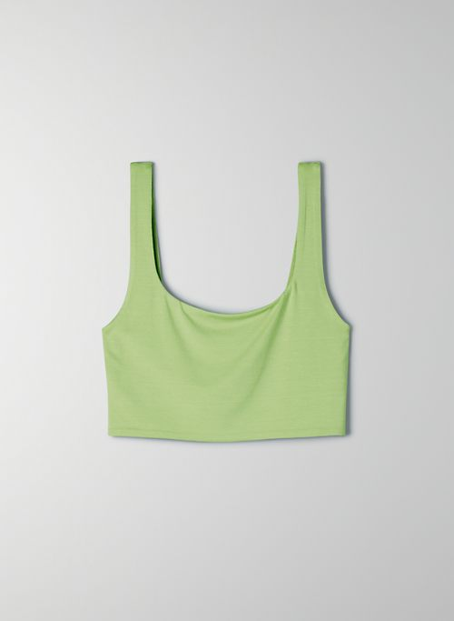 MYSTIC TANK - Square neck crop top