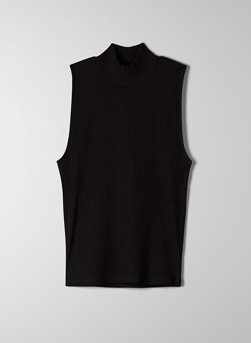 KERRYN MOCKNECK - Sleeveless, mock-neck shirt