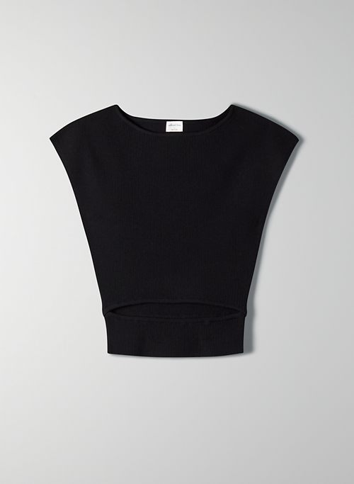 CUT-OUT KNIT TOP
