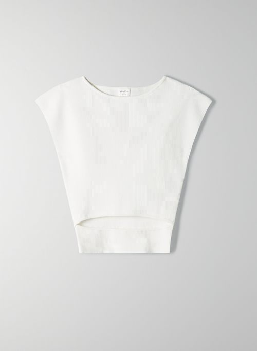 CUT-OUT KNIT TOP | Aritzia